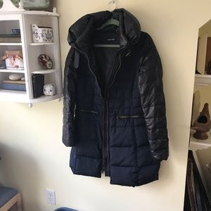 Nine West Black and Blue Down Puffer Jacket